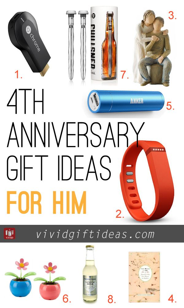 4th Wedding Anniversary Gift Ideas Gift Ideas Pinterest