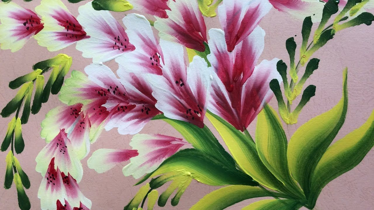 One Stroke Painting Shell Stroke Simple Decorative