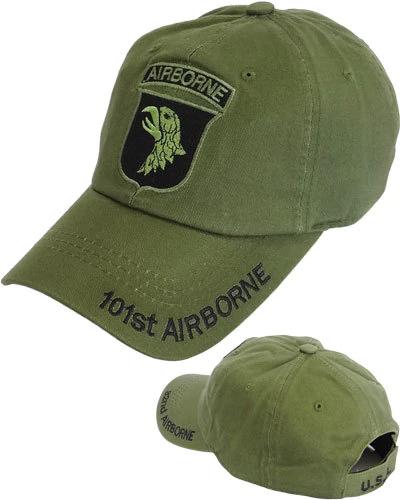101st Airborne Division Screaming Eagles Cap Cotton Olive Drab 82nd Airborne Division Airborne Military Hat