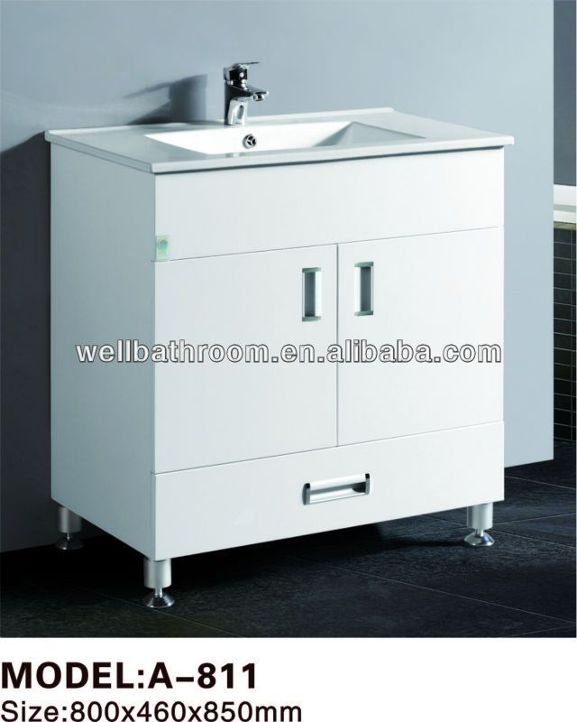 Painting Plastic Bathroom Cabinets free standing pvc bathroom cabinet 1.size:800x460x850mm 2.soft