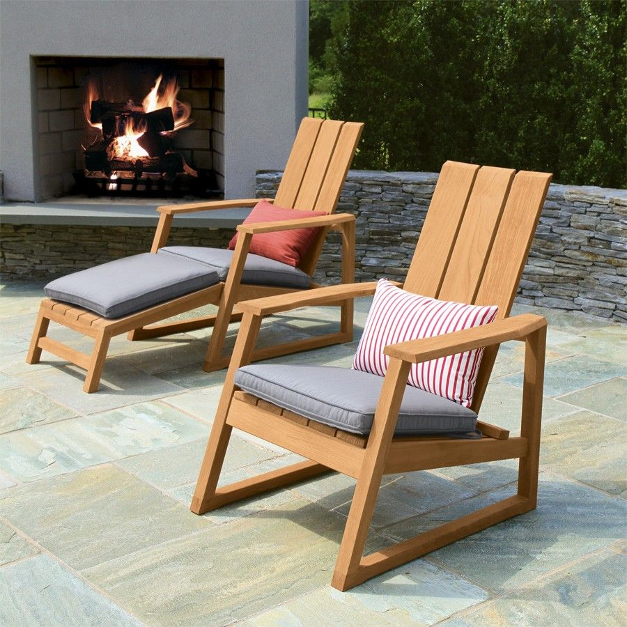 Teak Outdoor Chairs Aspen Adirondack Chair Country Casual