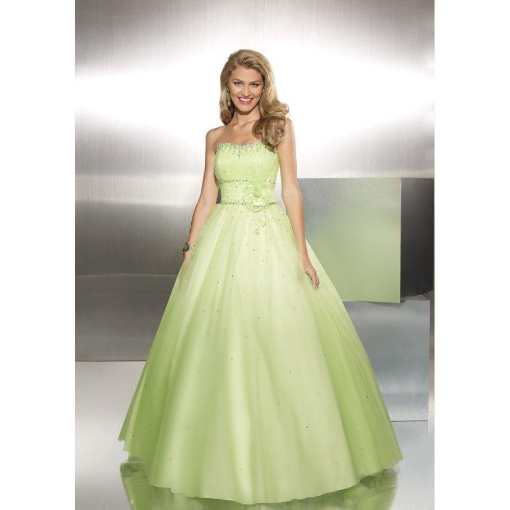 Light Green Wedding Dress | Future wedding | Pinterest | Green ...