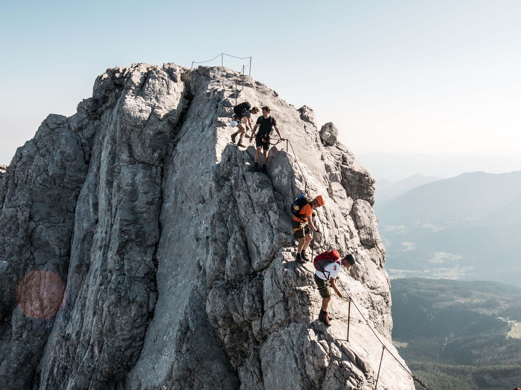 Klettersteigset Watzmann : Am watzmanngrat mit bergfuehrer die watzmannueberschreitung in