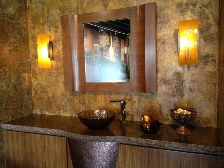 Cuartos de baño rusticos - 50 ideas con madera y piedra | Searching