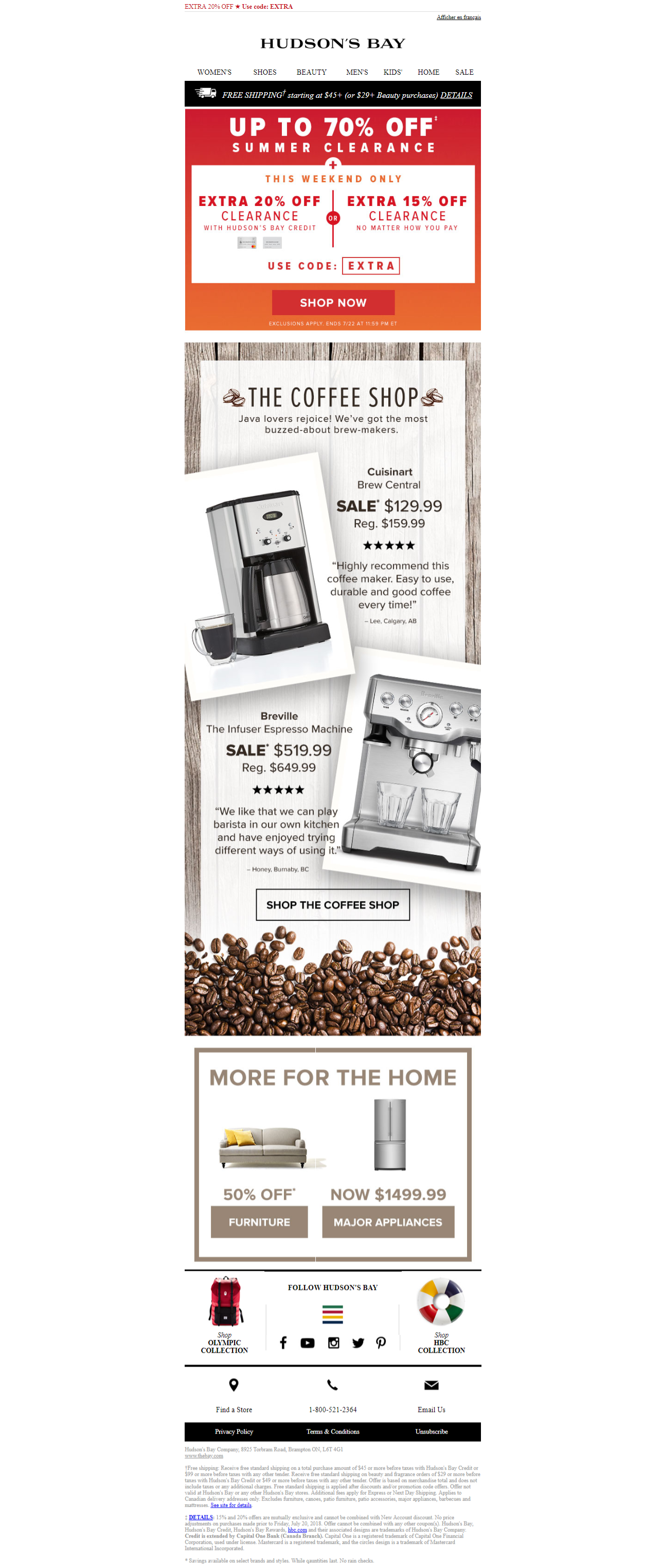 The Coffee Shop With Customer Quotes Email Emailmarketing Hudson S Bay Customer Quotes Coffee Shop Hudson Bay