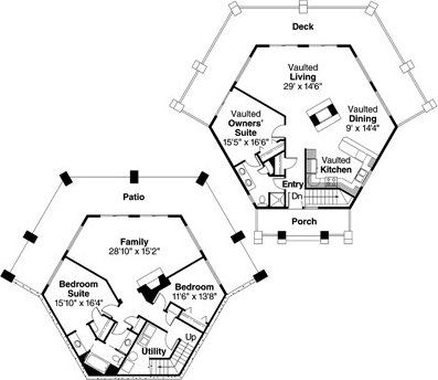 hexagon houses - Google Search | Hexagon Houses | Pinterest ...