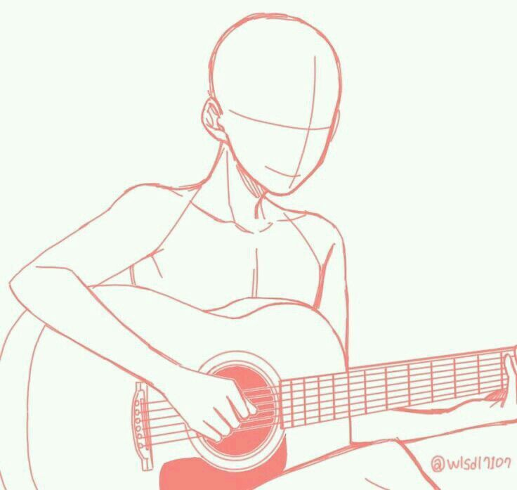 Bases De Dibujo V 8 っ Ch c Bocetos Dibujos De Guitarras Y Bases Dibujo