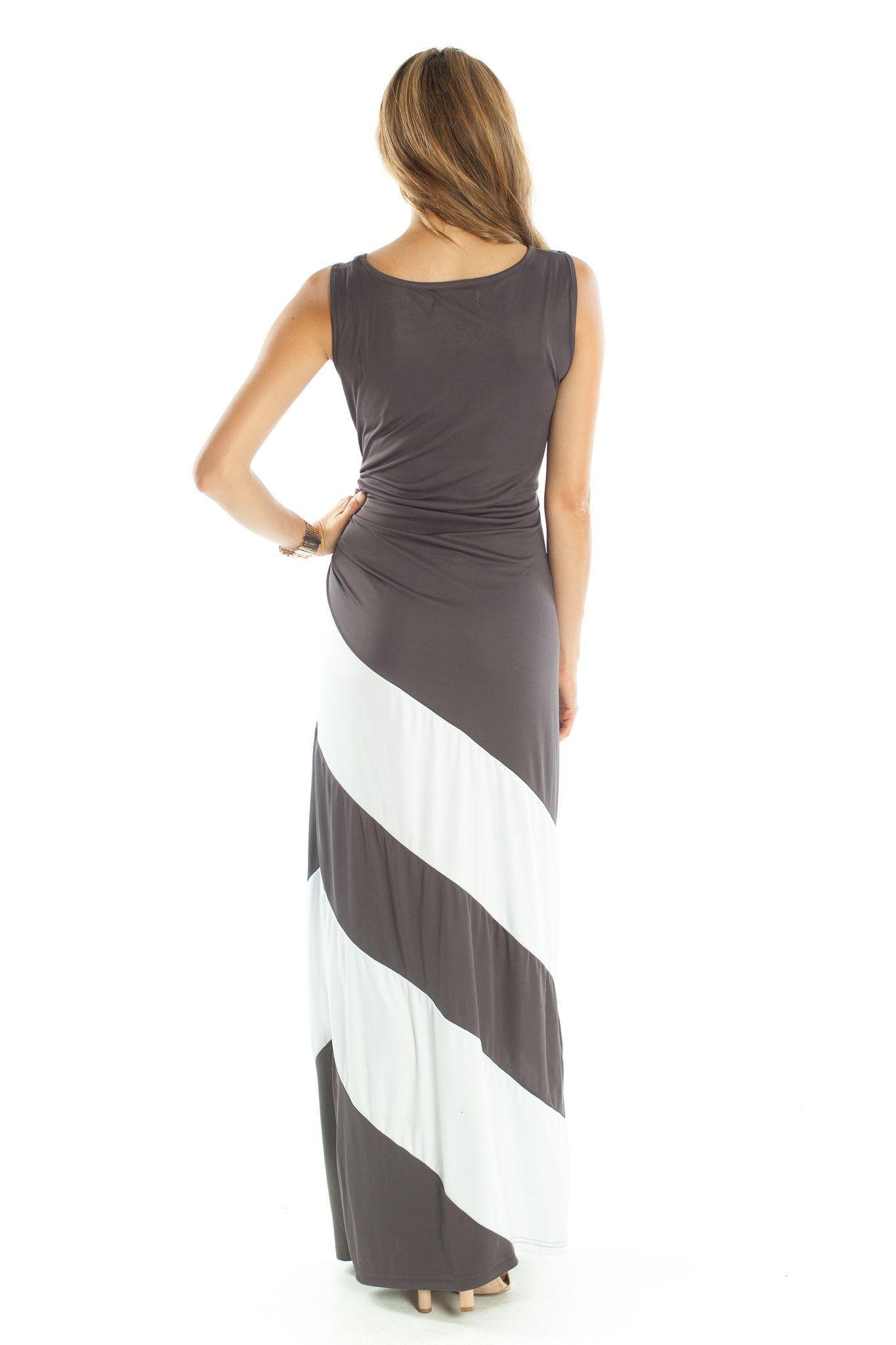 Lilly Maxi Dress (Grey)