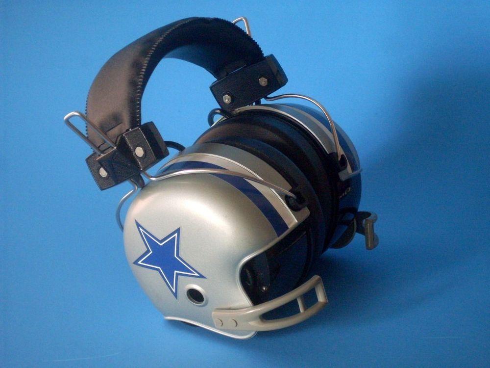 Vintage Nfl Stereo Helmet Headset W Am Radio Dallas Cowboys Dallas Cowboys Vintage Sports Helmet