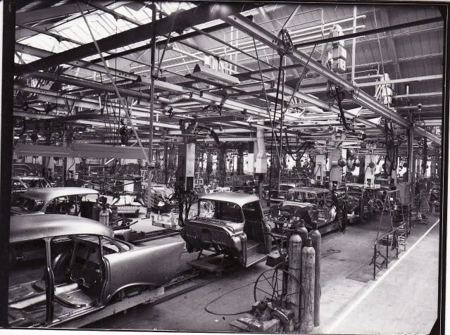 Vintage chevrolet assembly line photos google search for West chevrolet airport motor mile