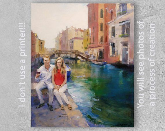 1b5e0b85911ba Personalized gift, Couple portrait, Custom oil painting portrait ...