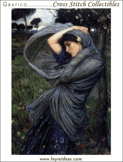 Boreas - Waterhouse by Cross Stitch Collectibles at Leyreideas.com