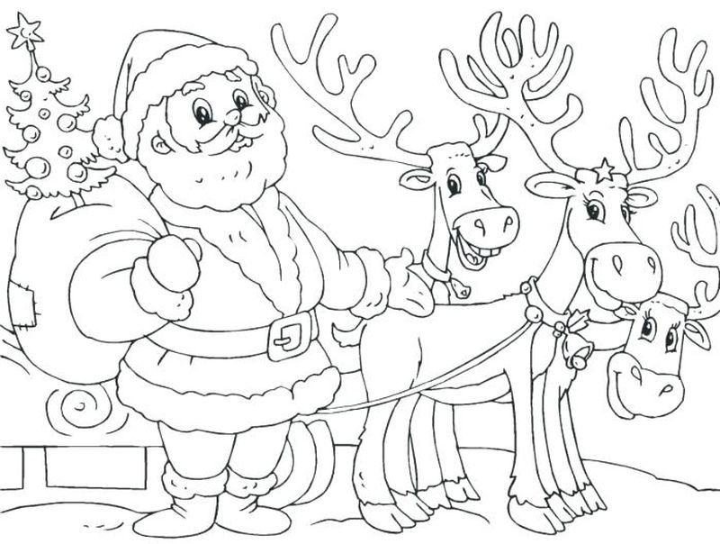 Cool Reindeer Coloring Pages Ideas For Children Free Coloring Sheets Santa Coloring Pages Christmas Coloring Pages Printable Christmas Coloring Pages