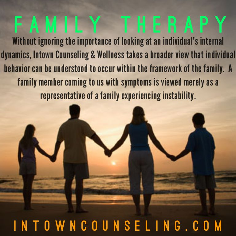 Family Therapy - http://www.intowncounseling.com/family-therapy-atlanta-ga/