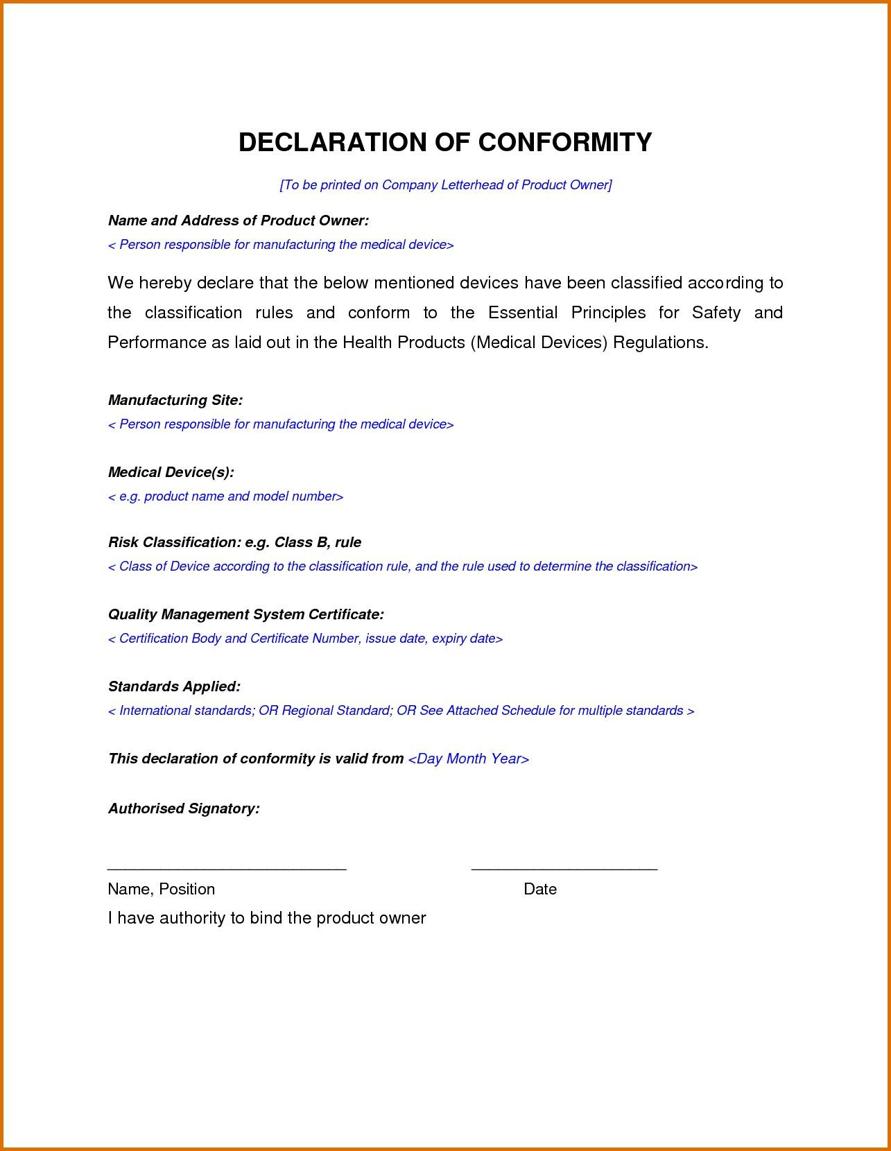 Brilliant Ideas For Certificate Of Manufacture Template On