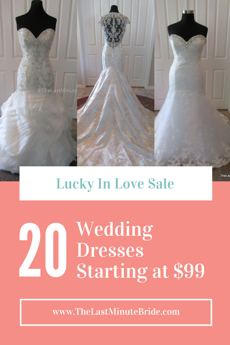 lucky in love wedding dress sale from the last minute bride