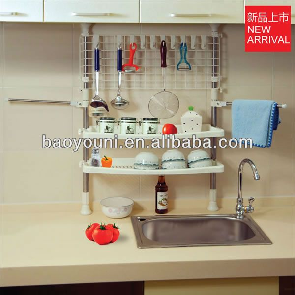 BAOYOUNI diy steel shelving kitchen hanging cup holder spice owner for cabinet DQ-0777-18 $10~$15