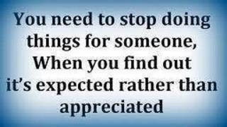 Expected vs. appreciated