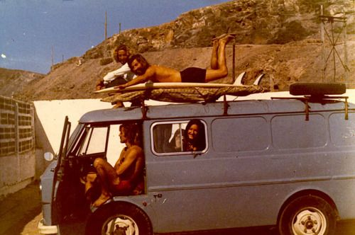 """70's Surfers.  Love the caption on the photo on the site I found it on.  """"what kind of magic is necessary to transport yourself into this picture."""""""