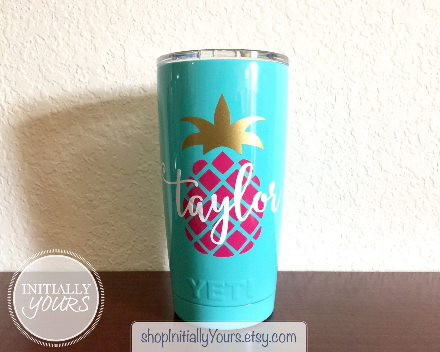 Personalized Pineapple Decal For Yeti Oz Pineapple Vinyl Decal - Custom vinyl stickers for tumblers