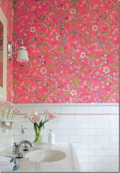 wallpaper for girls' bathroom