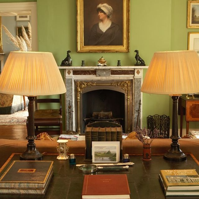 Cosy Sitting Room Painted In Pea Green By Edward Bulmer Paint
