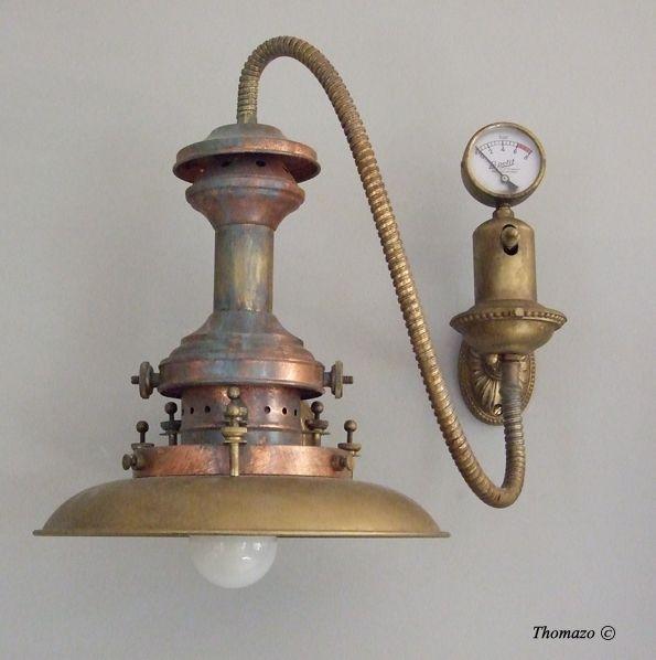 Antique Steampunk Wall Sconce Lampe Style Industriel