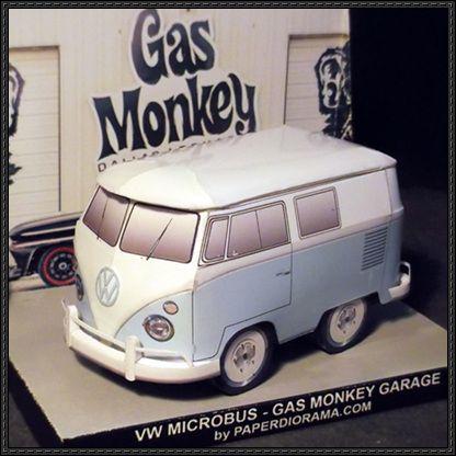Vw gas monkey garage custom free vehicle paper model for Garage volkswagen 94 creteil