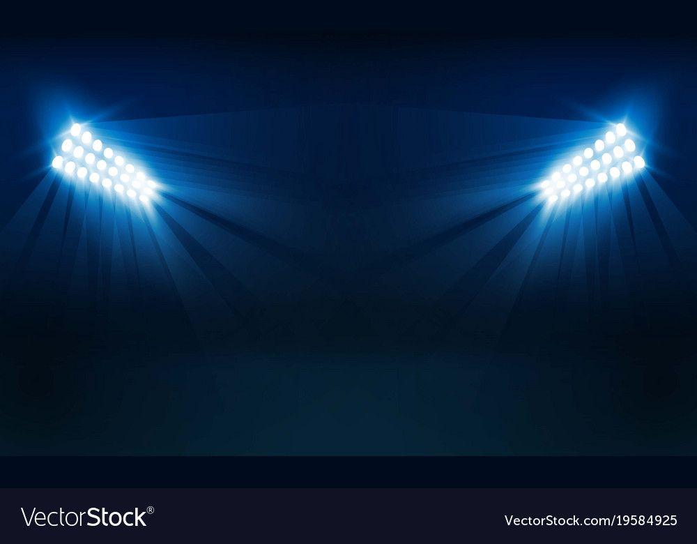 Bright Stadium Lights Vector Design Vector Illumination Download A Free Preview Or High Quality Adobe Illustra Stadium Lighting Green Background Video Design