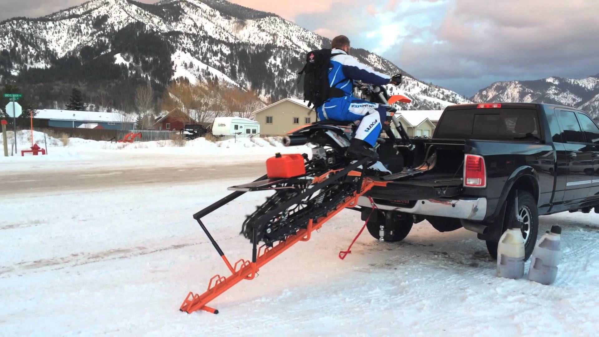 Snowest Test The Spine Snow Bike Ramp Motorcycles Pinterest