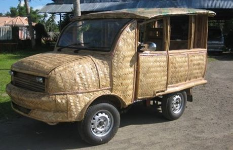 Pinoy Ingenuity at its finest. A Bamboo Taxi in Tabontabon, Leyte.