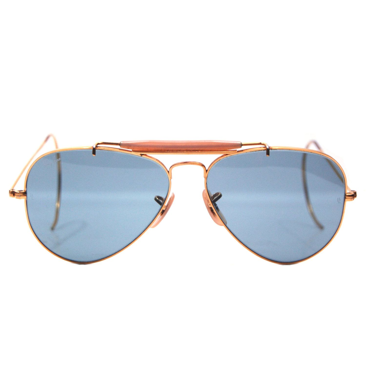 af28b07ed094 Vintage Ray Ban Bausch and Lomb Blue Changeable Sunglasses 58mm.  259.00