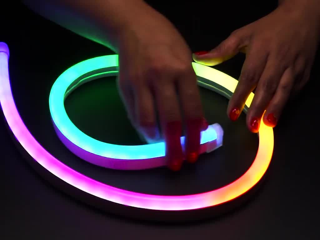 Neopixel Rgb Neon Like Led Flex Strip With Silicone Tube With