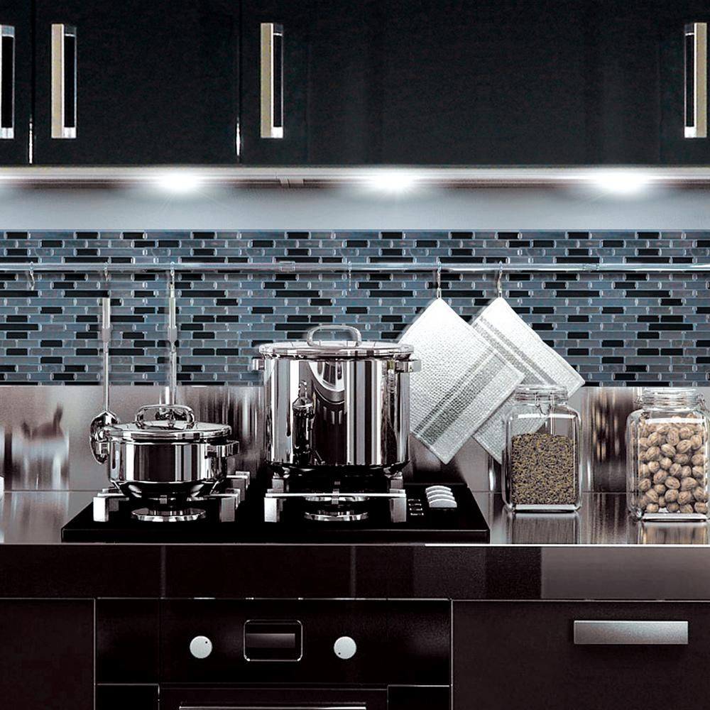 Decorative Wall Tiles Kitchen 913 Inx 1025 Inmuretto Mosaic Decorative Wall Tile In Nero