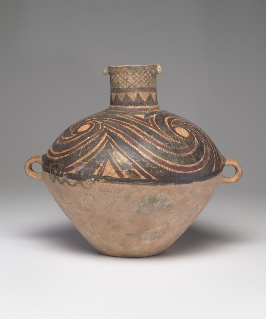 Jar with lug handles ca 2500 bc chinese neolithic period 2500 bc chinese neolithic period banshan culture ca 2800 ca 2300 bc eathernware with pigment reviewsmspy