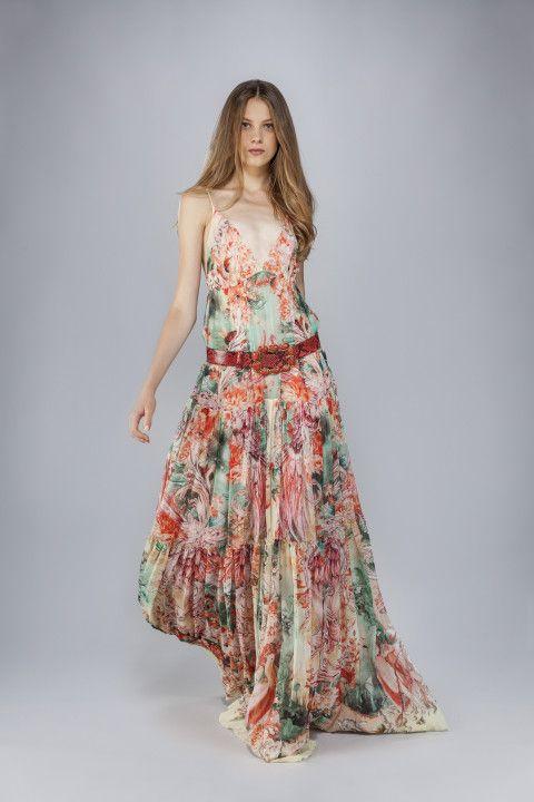 50804c52fc84 Kleid Phoenix aus Baumwollgaze Lange Kleider Roberto Cavalli ...