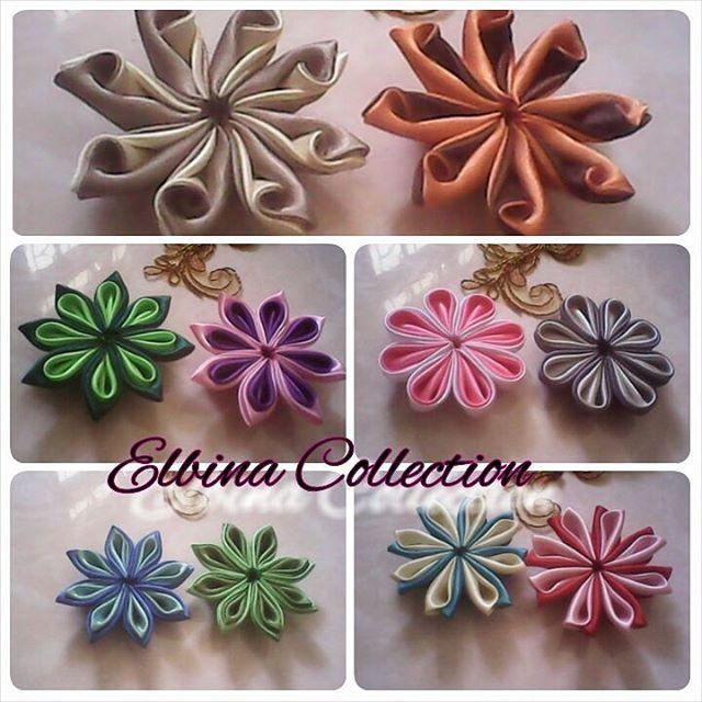 Aplikasi Kanzashi By Elbina Collection More Info Or Ask Price Please Contact Line Nafismamaelen Pin D0e36abc Wa 08179659575 Kanzashi Crafts Handmade