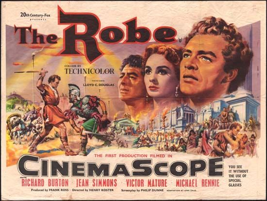 The Robe original movie poster | Epic film, Film, Film posters
