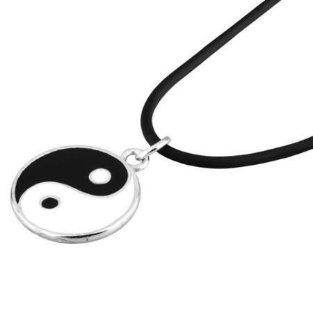"Zodaca Tai Chi Pendant Charm Black Leather Cord Choker Necklace Chain 20"" | @giftryapp"