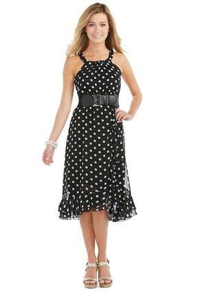 e5fc7bb56c1 Cato Fashions Polka Dot Ruffle Hem Dress - Plus  CatoFashions   CATOSUMMERSTYLE