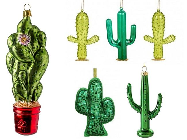 cacti cactus tropical christmas tree decorations