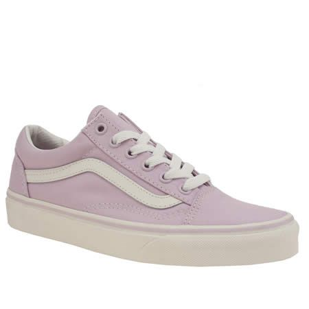 womens vans lilac old skool pastel canvas trainers