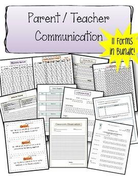 Parent Teacher Communication Bundle Educational Finds