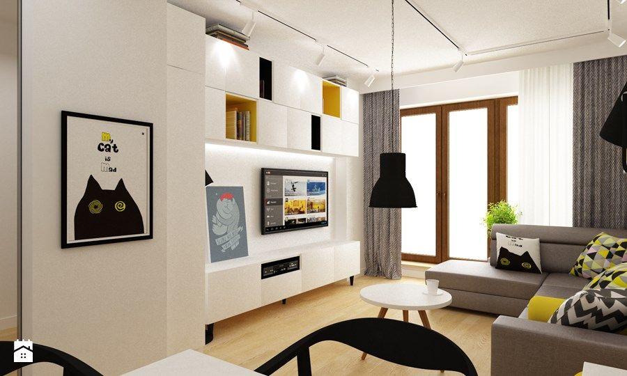 Salon, styl skandynawski Salon - zdjęcie od Grafika i Projekt