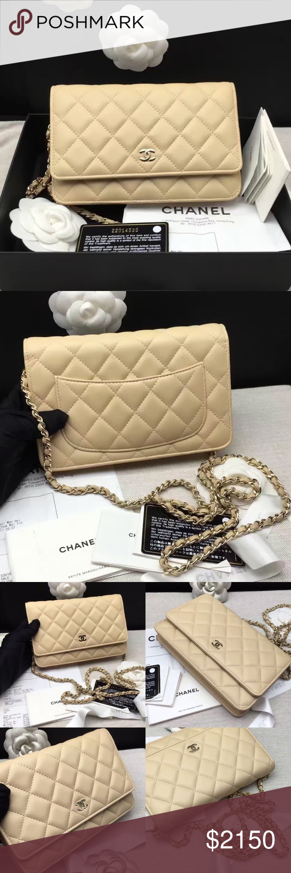 abea565941d7ea Auth Chanel 2016 NEW WOC Wallet on Chain Bag Beige Brand new in box Chanel  WOC
