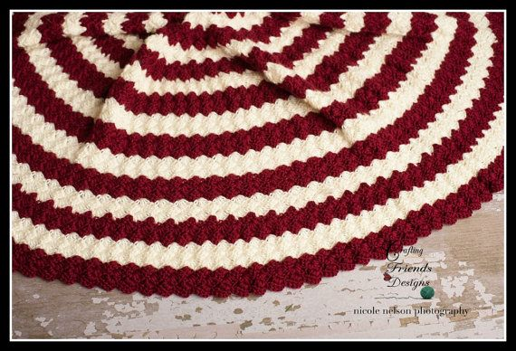 Crochet Pattern Diamond Christmas Tree Skirt Warming Crochet And