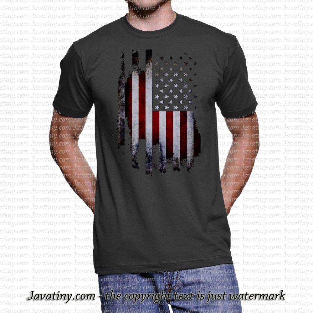 American Flag Distressed Usa Flag Tattered Patriotic America Men S T Shirt Tee Mens Tshirts Mens Tops Tee Shirts