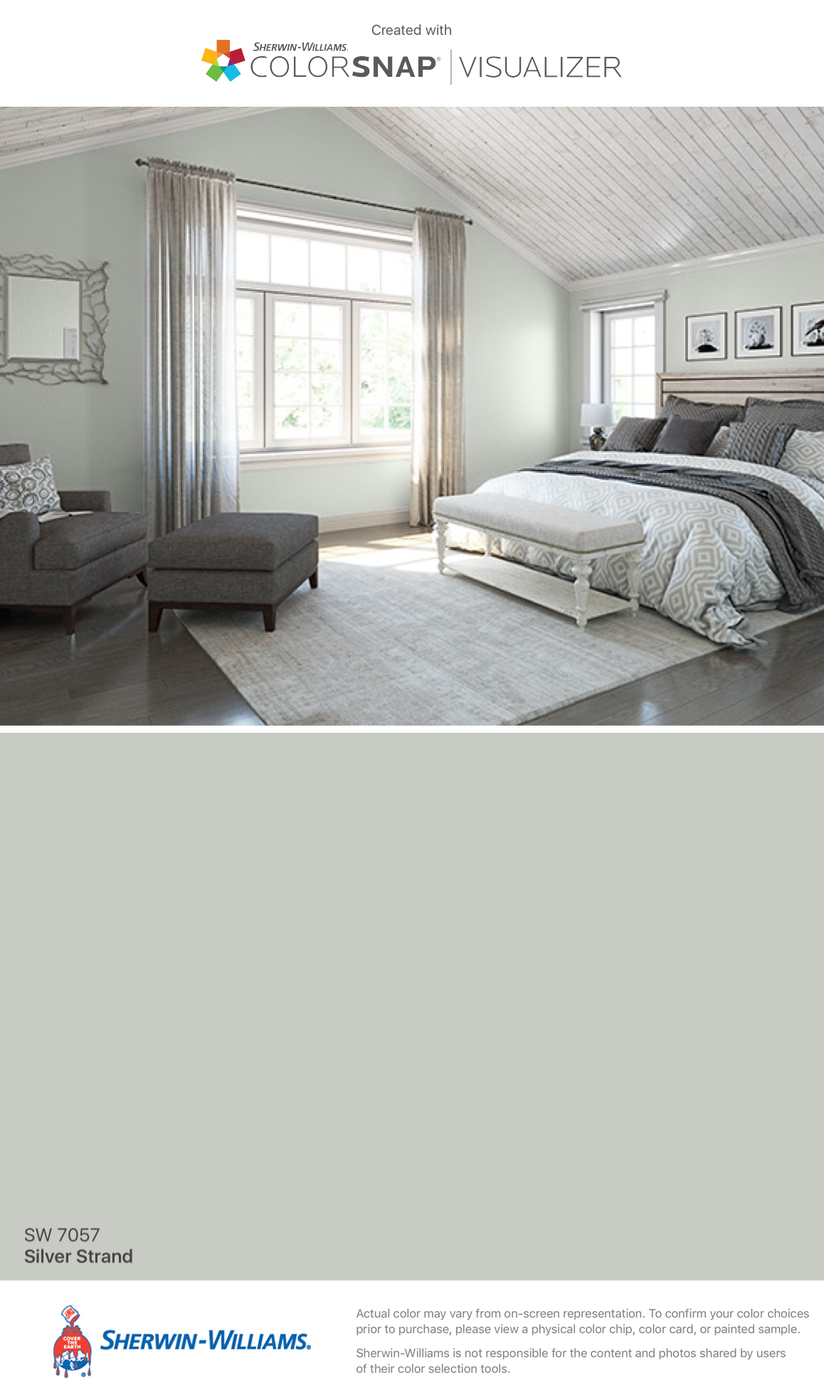 I Found This Color With Colorsnap Visualizer For Iphone By Sherwin Williams Silver Strand Sw 7057 Bedroom Colors Master Bedroom Paint Bedroom Paint Colors