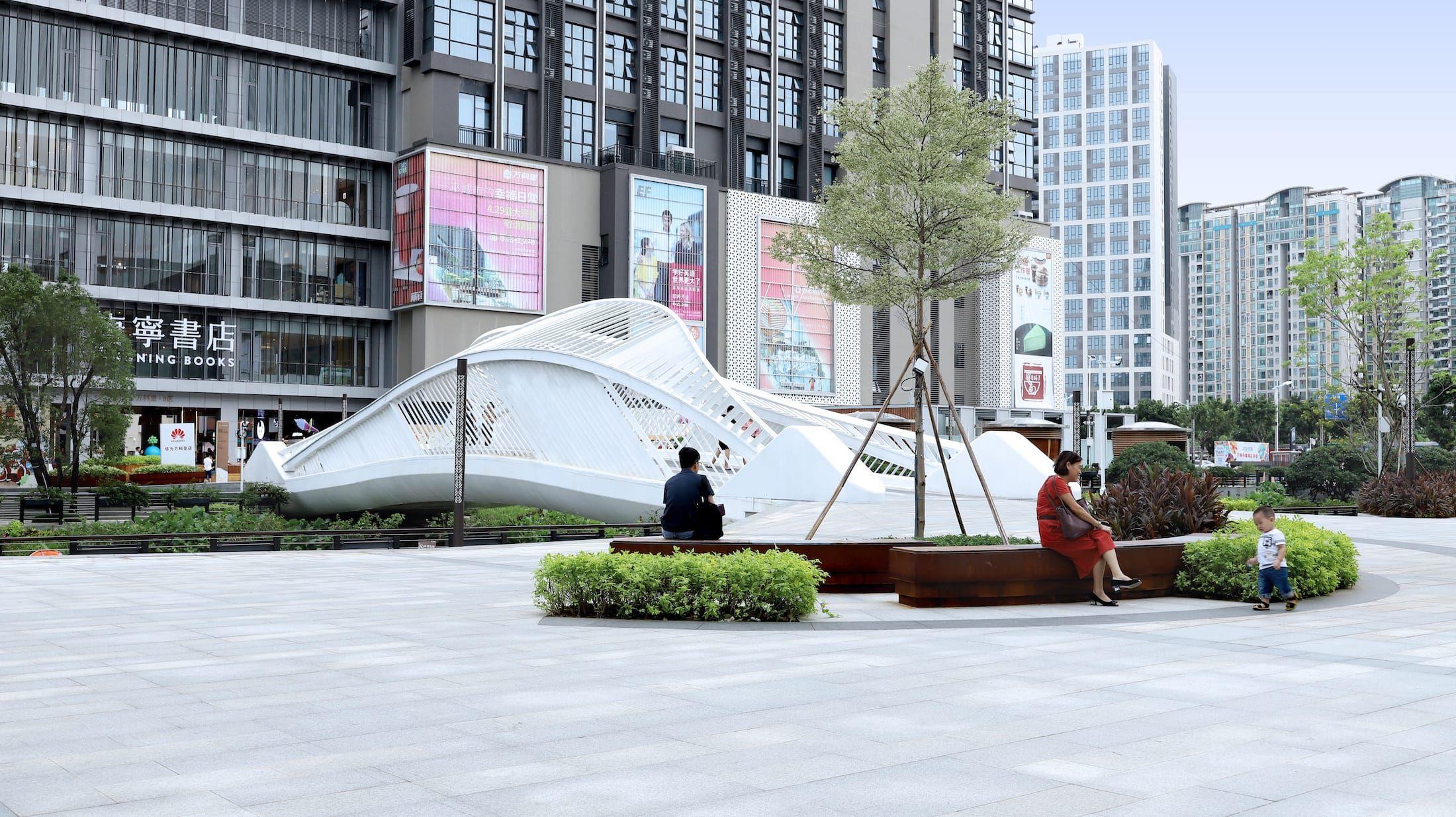 基盛万科中央公园 黑白灰建筑空间摄影 panyu central park outdoor decor