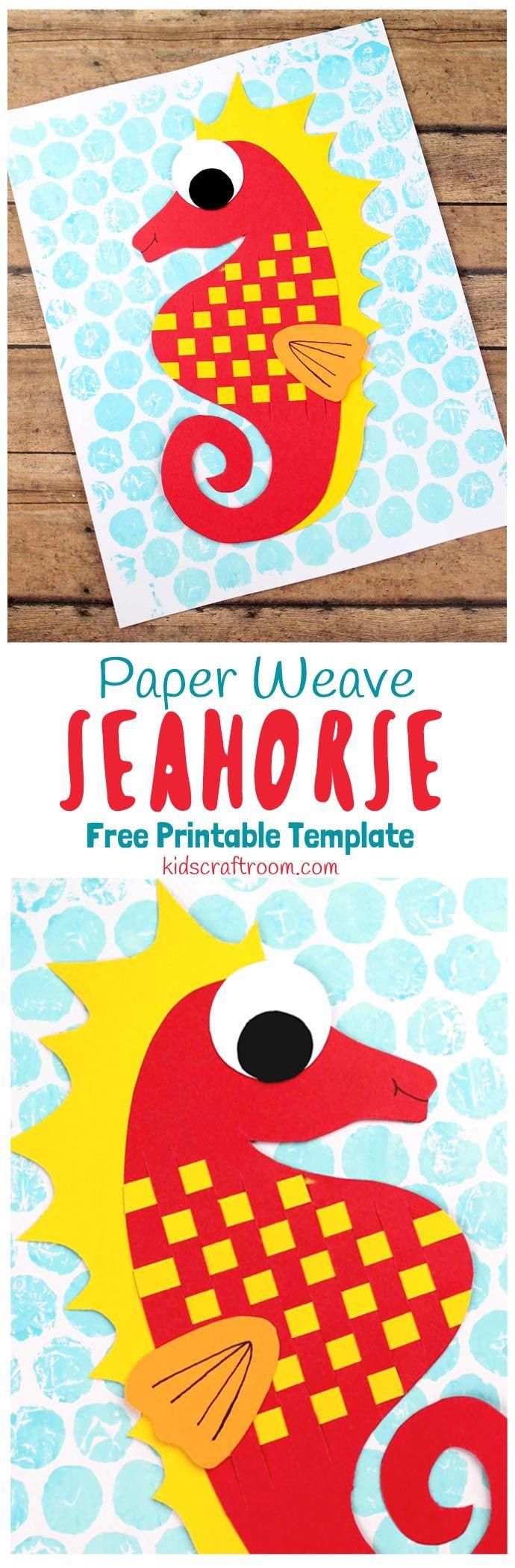Paper Weaving Seahorse Craft Kids Craft Room Pinterest